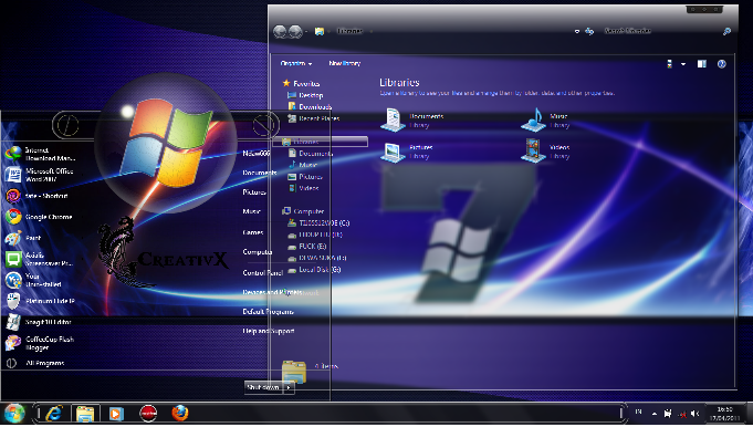 Theme Installer (Old Works only on Windows 7)